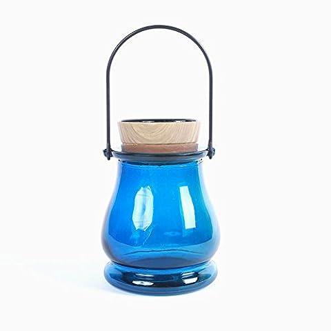 Solaire Intelligent Chambre Photosensible Nuit Lumière Lampe De Chevet Petite Nuit Lumière Led Portable Commutateur Éconergétiques Feux (Bouteille De Lumière Solaire) , Blue