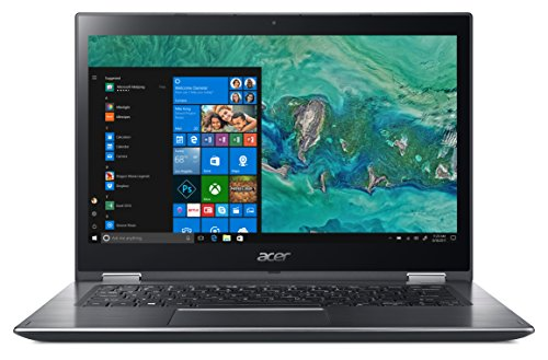 "Acer Spin 3 SP314-51-P2MV Notebook con Processore Intel Pentium Gold 4415U, RAM da 8 GB DDR4, 128 GB SSD, Display Multi-touch 14"" FHD IPS LED LCD, Scheda grafica Intel HD 610, Windows 10 Home, Grigio"