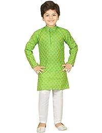 Boy's Ethnic Wear Cotton Kurta Payjama Set By 3D Kid's
