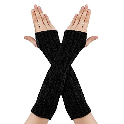 guanti lunghi donna RICHOOSE Guanti Donna Invernali Inverno Guanti senza dita maglia lunghi Manicotti