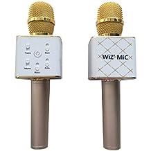 Micro Karaoke Bluetooth con altavoz inalámbrico color dorada