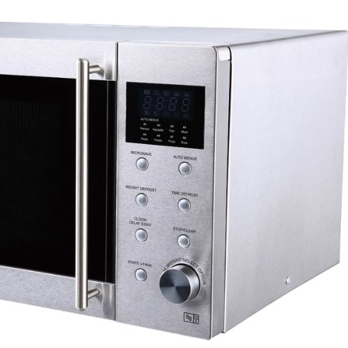 Sharp SHR28STM R28STM Microwave with 1 Year Warranty, 23 Litre, 800 Watt, Silver