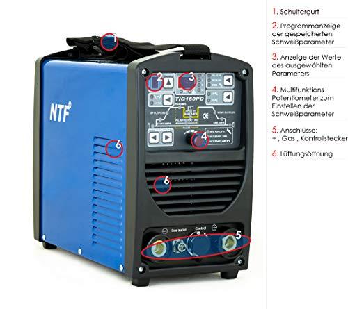 NTF TIG160PD WIG TIG E-Hand Inverter Schweissgerät - 3