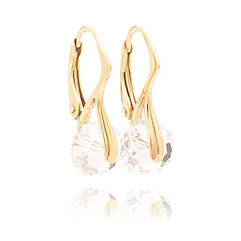 CLOSEOUT SALE! Genuine Crystals from Swarovski® 8mm Briolette Round Earrings.
