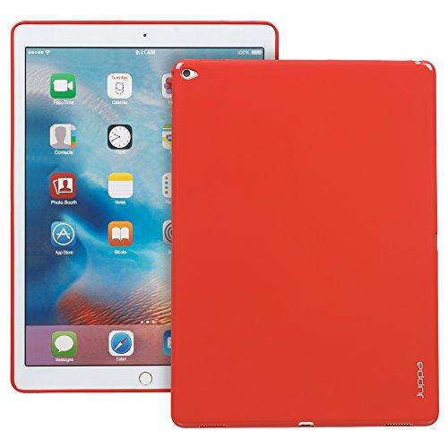 Juppa® Apple iPad Pro 12,9 Zoll 2015 TPU Silikon Tasche Hülle Schutzhülle mit LCD displayschutzfolie und Mikro-Reinigungstuch - Rot / - Gel Tablet Lg 7 Case