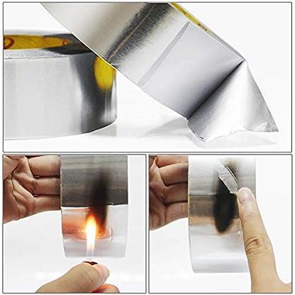 JUNCHUANG Cinta de papel de aluminio Cinta de plata resistente al calor Sellado y parcheado Conductos de aire frío y caliente, reparación de metales