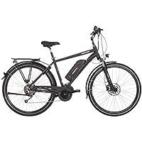 "FISCHER E-Bike TREKKING Herren ETH 1820, Anthrazit, 28"", RH 50 cm, Mittelmotor 48 V/ 422 Wh, Shimano Deore 3 x 8 Gang-Schaltung, LCD-Display inkl. Navi-App"