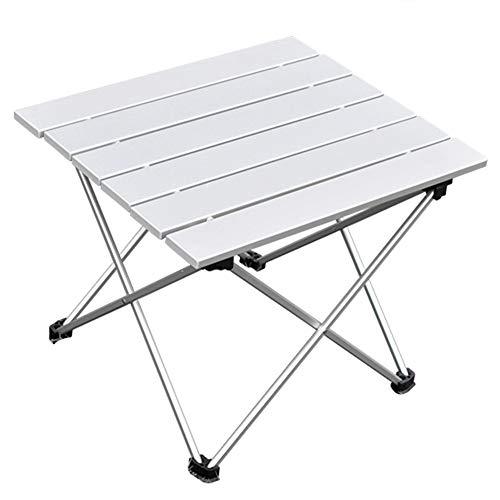 ANPI Mesa de camping plegable al aire libre de aluminio, Mesa de picnic portátil...