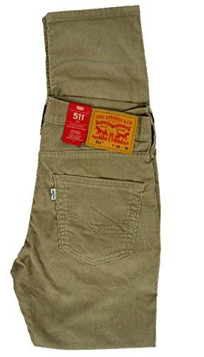 134f85084df Levi s Herren Jeans 511 Slim Fit Beige True Chino 14W Cord Wt 2442 ...