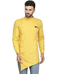 BENSTOKE Men's Cotton Angrakha Kurta