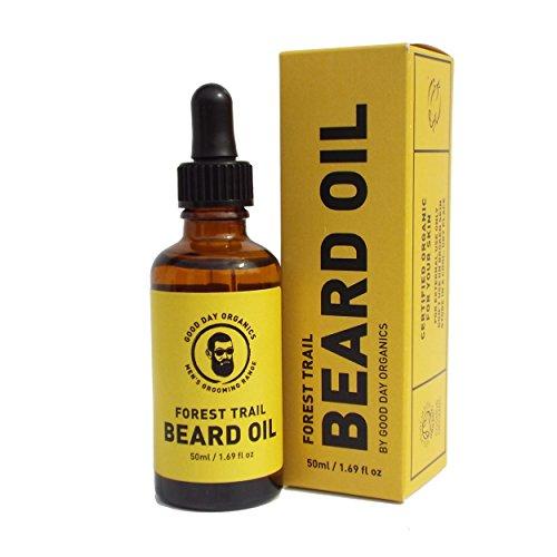Hommes de Forêt Trail Huile/Vegan Barbe Bio – Convient pour tous les types de Barbe longueurs/peau. Fabriqué au Royaume-Uni avec 99% Bio/100% naturel Ingrédients. (50 ml)