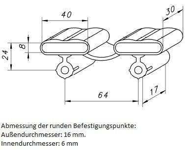 10-Kautschukkappen-in-grau-mit-befestigungs-Punkten-10er-Paket-viele-Varianten-40x30x8-mm-Breite-x-Tiefe-x-Hhe-Duo-Kappe