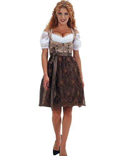 Alte Liebe 2tlg. Dirndl Kleid A377, Braun, Gr. 42