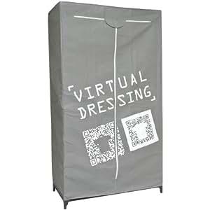 Loft - Armoire Penderie Dressing en toile Design Loft Street Casual Gris
