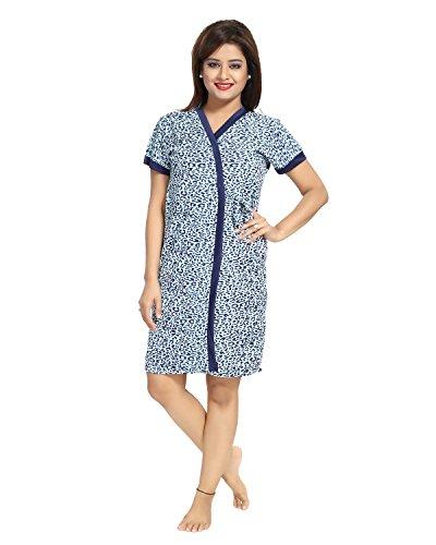Tucute-Womens-Girls-Satin-Nighty-4-Pc-set-Wrap-Gown-Bra-Thong-Nighty-Nightwear-Sleepwear-Cheetha-Print