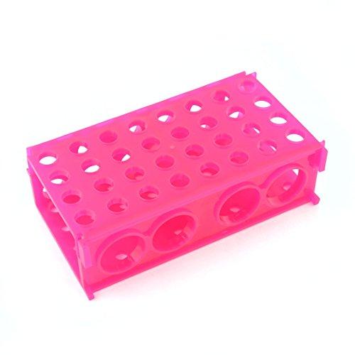 Fuchsia Plastik Umschaltbare Flip 80 Löcher 8mm 12mm Zentrifugenröhrchen Rack
