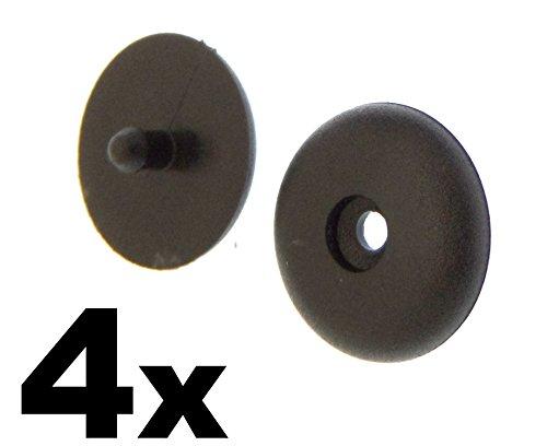 Preisvergleich Produktbild 4 x Universal Sitz Gürtelschnalle Tasten – Halterungen Nieten Retainer Stopper Rest Pin – Sicherheit Verschluss