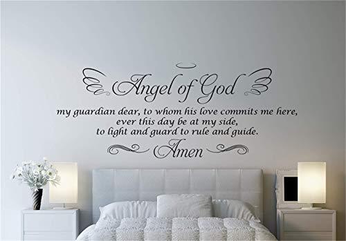 wandaufkleber babyzimmer mädchen Angel Of God, mein Wächter, zu dem mich seine Liebe für Wohnzimmer-Schlafzimmer verpflichtet