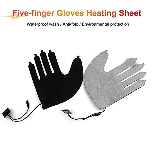 Elektrische Heizkissen für Handschuhe, 5 V, 3-Modus-Thermostat-Schalter Heizplatte Handwärmer (Batterie Nicht im Lieferumfang enthalten)