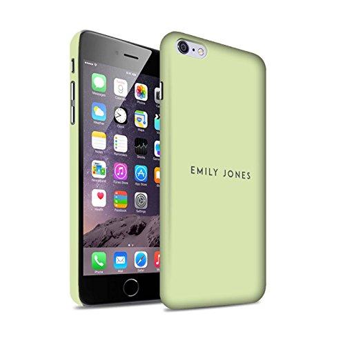 Personalisiert Individuell Pastell Stempel Matte Hülle für Apple iPhone 7 / Rosa Design / Initiale/Name/Text Snap-On Schutzhülle/Case/Etui Grünes