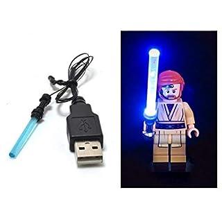 ARUNDEL SERVICES EU LED Blue Lightsaber for lego Star wars minifigure Toys Lego light kit Light Saber Led lego lights lego lights Building Blocks Lego Compatible