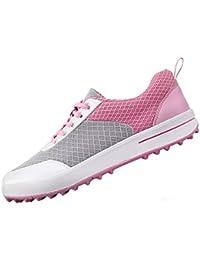 Zapatos de Golf Respirables de Spikeless de Las señoras, Zapatillas de Deporte Casuales de la Malla Ligera de los Zapatos