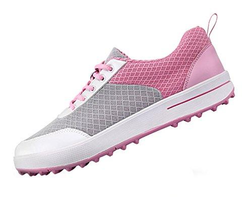 PGM Atmungsaktive Spikeless Golfschuhe Damen für Frauen, Leichte Maschen-zufällige Gehende Turnschuh-Schuhe