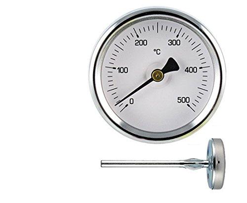 Termómetro 0-500° para hornos Pizza y barbacoa. Sonda mm.150