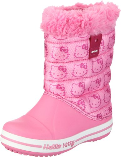 CROCS, Hello Kitty Gust Boot G, Stivali, Bambine e ragazze, Rosa, 35/36