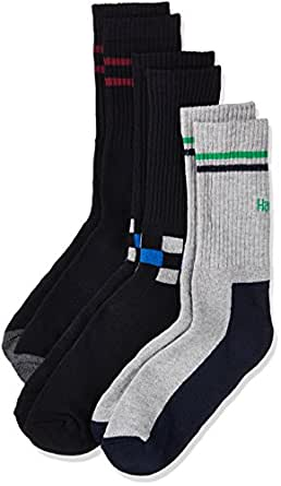Hanes Men's Cotton Athletic Socks (Pack of 3)(8903073601827) (P347-615-CP_Anthra Melange_FS)(Colors may vary)