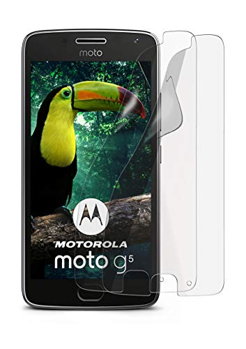 2X Lenovo Moto G5 | Schutzfolie Matt Bildschirm Schutz [Anti-Reflex] Screen Protector Fingerprint Handy-Folie Matte Bildschirmschutz-Folie für Motorola Moto G5 Bildschirmfolie