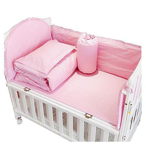 Pare-chocs pour lit de bébé lit en coton amovible et lavable respirant et entourant l'ensemble de literie pour bébé ensemble de 4 pièces anti-collision 120 * 60 D