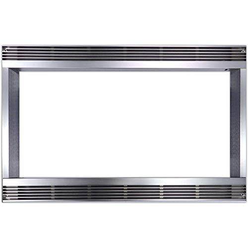27 In. Built-In Trim Kit for Sharp Microwave R551ZS - Stainless Steel - Appliance Trim Kits