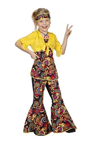 Kostüm Kind 60er Jahre - Wilbers Kinder Kostüm 60er Jahre Hippie Mädchen Karneval Gr.152