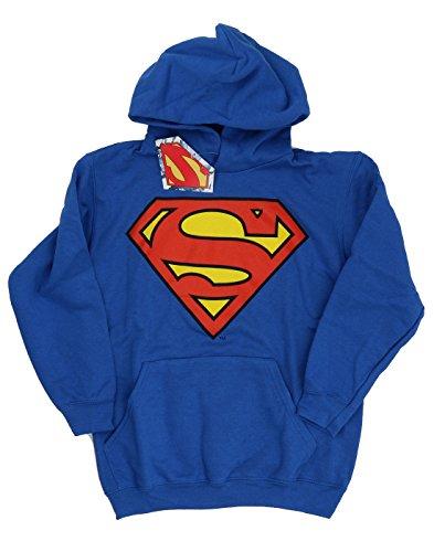 DC Comics Bambini e ragazzi Superman Logo Felpa con cappuccio 12-13 years Blu reale