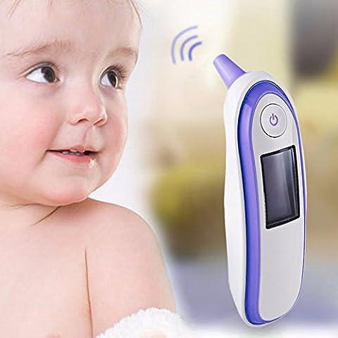 Lemonda Thermomètre Numérique Infrarouge Thermomètre à L'oreille pour Bébé Enfant Adulte