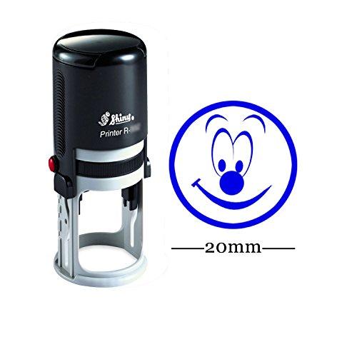 Personalisierte Kundenspezifische Glänzende 20mm Rubber Mini Stempel HAPPY SMILEY Round Selbstfärber Kinder Lehrer Stempel