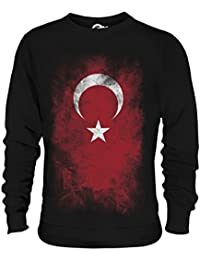 993cffaae27c7 Candymix Turquie Drapeau Dégradé Unisexe Sweat-Shirt Homme Femme