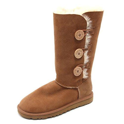 b5894-stivale-donna-ugg-australia-w-bailey-button-triplet-cuoio-boot-shoe-woman-36-eu-35-uk