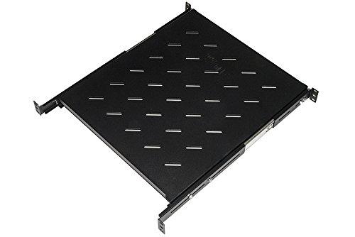 Link lkrip550en ripiano universale per armadio rack estraibile su binari telescopici 1 unità, 550mm, nero