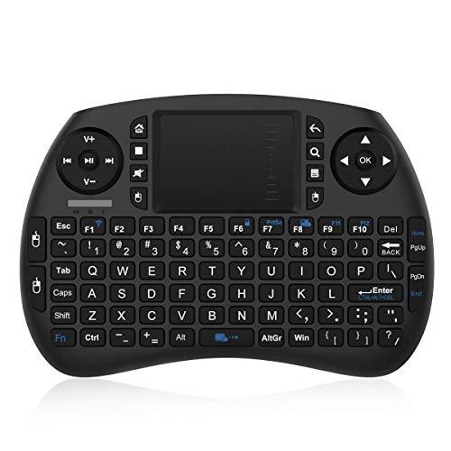 Bqeel 2.4GHz Wireless Mini Tastatur mit Touchpad, wiederaufladbarer Batterie, 92 Tasten, Scrollrad, DPI Einstellbare Funktionen, 3 in 1 Multifunktion, für Mini-PC/ Android TV Box/ IPTV/ Pad