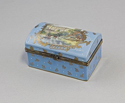 Boîte Coffre en porcelaine avec motif paysage