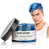 Best Just Natural Products Pomades - Blue: MOFAJANG Hair Coloring Wax, Blue Temporary Hairstyle Review