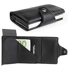 Fabonka Porta Carte di Credito, Custodia Multi-Uso Portafoglio Tasche in Lega di Alluminio per Uomini e Donne (3)
