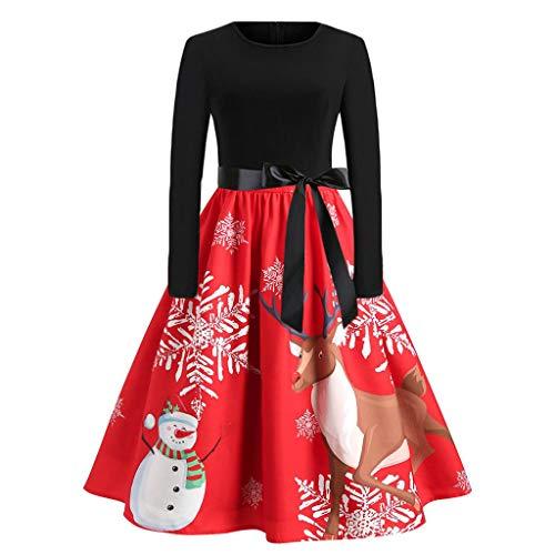 CLOOM Mujer Vestidos De Mini árboles De Navidad Navidad