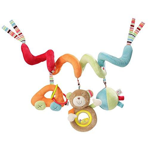 Fehn 091144 Activity-Spirale Oskar / Stoff-Spirale zum Greifen und Fühlen für Bett, Kinderwagen, Laufgitter anpassbar / Für Babys und Kleinkinder ab 0+ Monaten / Maße: 30 cm lang