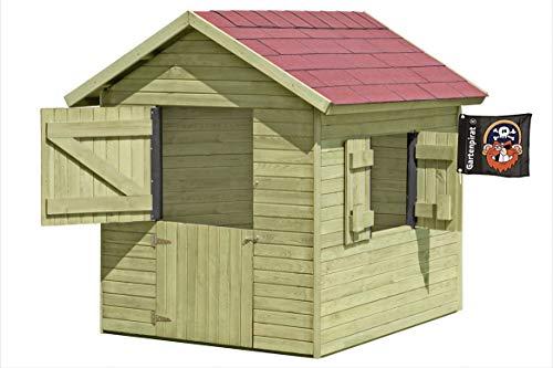 Gartenpirat Spielhaus Marie 1,5 x 1,2 m x 1,60 Gartenhaus aus Holz