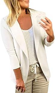 Women Solid Suit Business Coat ❀ Ladies Long Sleeve Office Wear Blazer Tops Casual Cardigan Outerwear Sweatshi