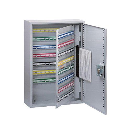 BASI® Schlüssel-Kasten Schlüssel-Schrank Schlüssel-Tresor Schlüssel-Safe Grau Stahl-Blech 35/100 / 150/200 Haken, 150 Haken Stahl-safe