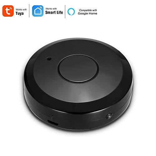 Owsoo telecomando wifi ir intelligente, telecomando universale a infrarossi per climatizzatore tv uso di tuya smart life app compatibile con alexa google home voice control